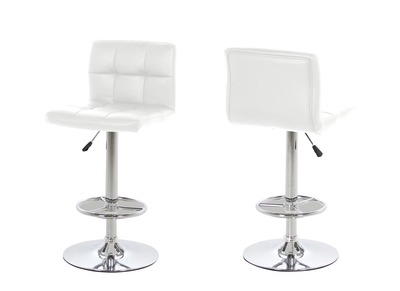 Tabouret de bar design blanc lot de 2 UNIV