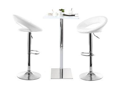 Tabouret de bar design blanc NEWTON