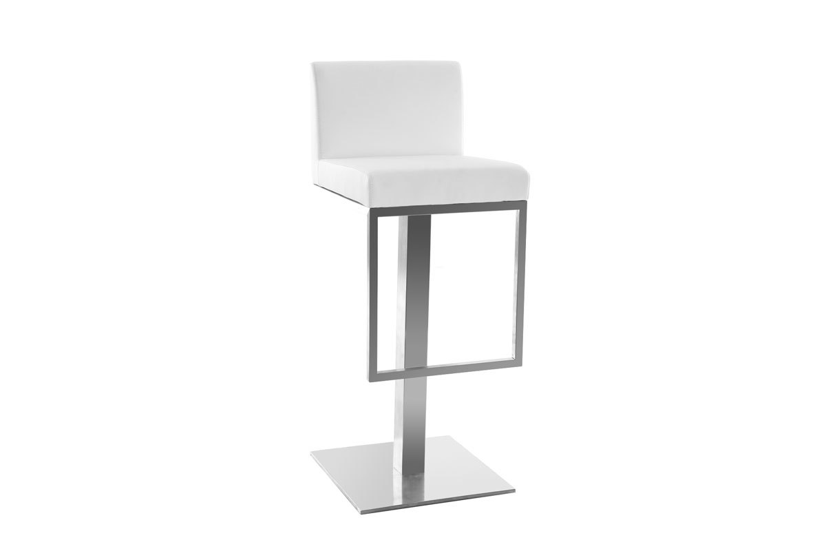 tabouret de bar design blanc omega miliboo. Black Bedroom Furniture Sets. Home Design Ideas