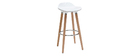 Tabouret de bar design blanc scandinave lot de 2 GILDA