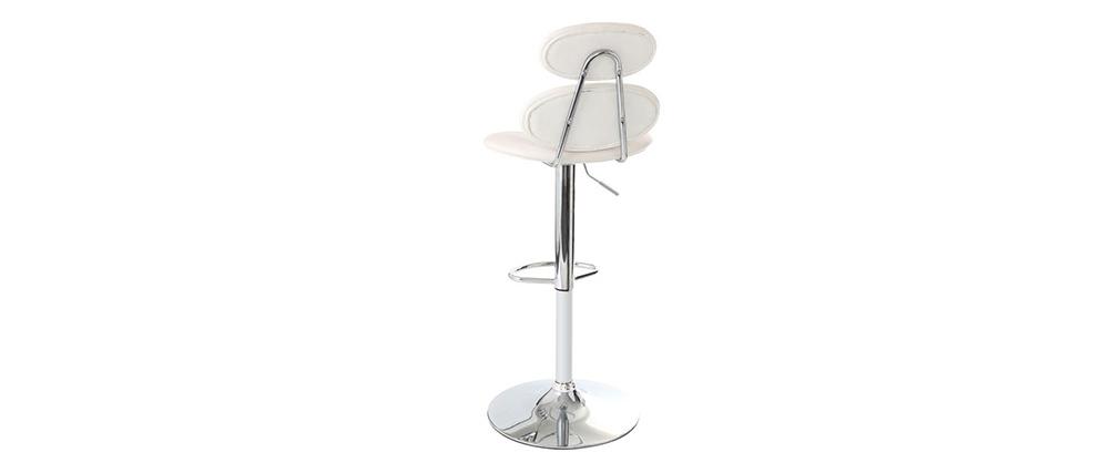 Tabouret de bar design blanc STONE