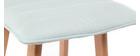 Tabouret de bar design bois et menthe à l'eau 65 cm (lot de 2) EMMA
