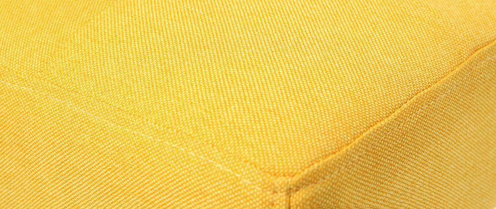 Tabouret de bar design capitonné jaune et bois 65 cm lot de 2 ESTER