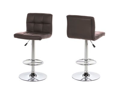 Tabouret de bar design chocolat lot de 2 UNIV