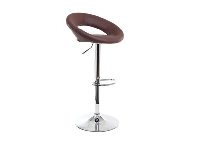 Tabouret de bar design chocolat NEWTON