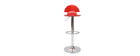 Tabouret de bar design en plexiglas rouge transparent ORION