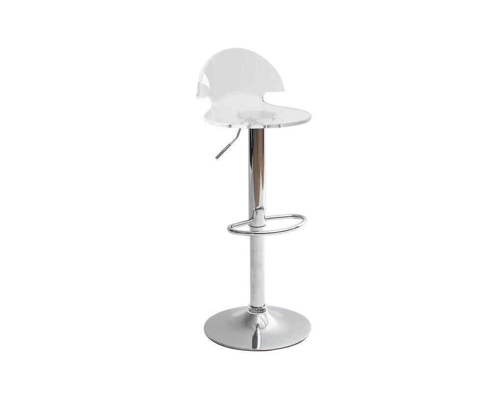 Tabouret De Bar Design En Plexiglas Transparent Orion Miliboo