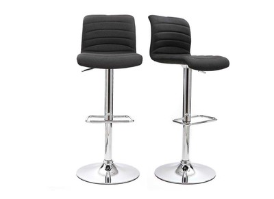 Tabouret de bar design gris lot de 2 ICHOR