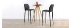 Tabouret de bar design grises lot de 2 KARLA