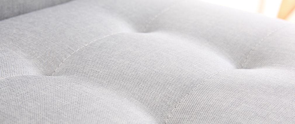 Tabouret de bar design métal et tissu gris clair 66 cm (lot de 2) HALEY