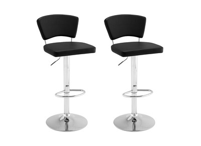 Tabouret de bar design noir lot de 2 ALGO