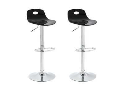 Tabouret de bar design noir lot de 2 ATRIA