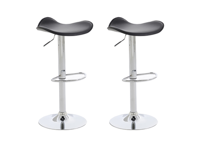 Tabouret de bar design noir lot de 2 CAPELLA