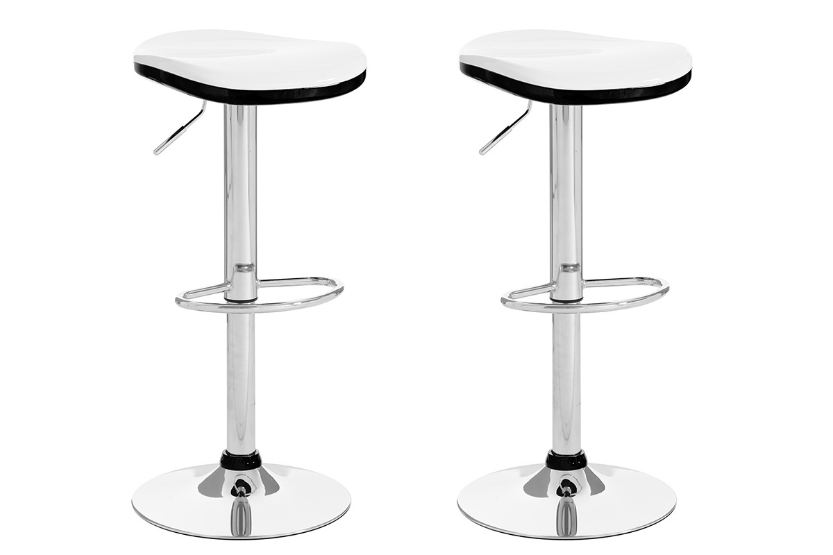tabouret de bar design noir lot de 2 ned miliboo. Black Bedroom Furniture Sets. Home Design Ideas