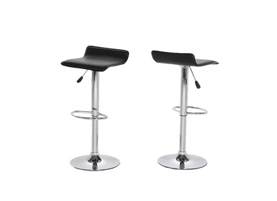 Tabouret de bar design noir lot de 2 SUMMER