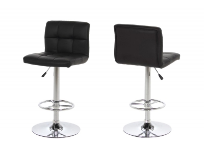 Tabouret de bar design noir lot de 2 UNIV