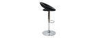 Tabouret de bar design noir NEWTON