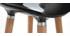 Tabouret de bar design noir scandinave lot de 2 GILDA