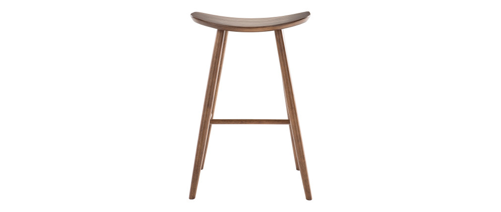 Tabouret de bar design noyer H72 cm DEMORY