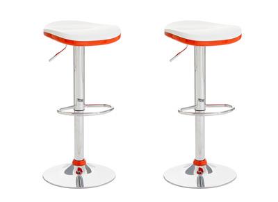 Tabouret de bar design orange lot de 2 NED