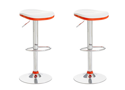 Tabouret de bar design orange lot de 2 NED