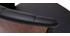 Tabouret de bar design pivotant noir et bois foncé H65cm ALBIN