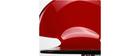 Tabouret de bar design plexiglas rouge transparent lot de 2 ORION