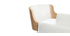 Tabouret de bar design polyuréthane blanc et bois clair RAY