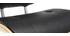 Tabouret de bar design poyluréthane noir et bois clair MARTY