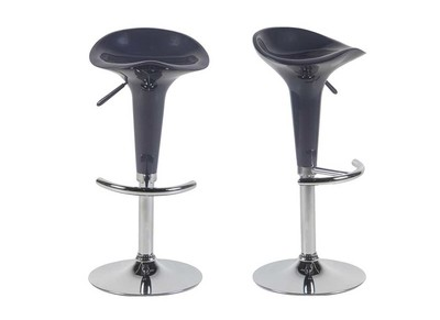 Tabouret de bar design prune GALAXY (lot de 2)