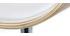 Tabouret de bar design réglable blanc et bois clair BENT