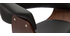 Tabouret de bar design réglable noir et bois foncé OKTAV