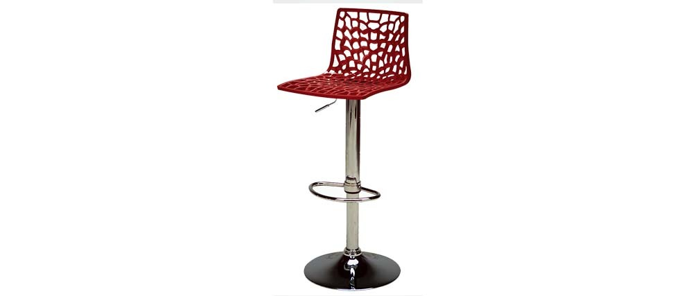 tabouret de bar design rouge atrax miliboo. Black Bedroom Furniture Sets. Home Design Ideas