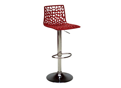 Tabouret de bar design rouge ATRAX