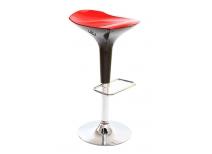 Tabouret de bar design rouge et noir VENUS