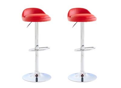 Tabouret de bar design rouge lot de 2 NAOS