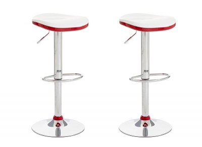 Tabouret de bar design rouge lot de 2 NED