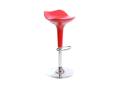 Tabouret de bar design rouge URANUS