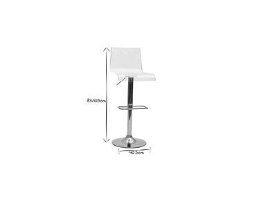 Tabouret de bar design SATURNE plexiglas transparent (Lot de 2)