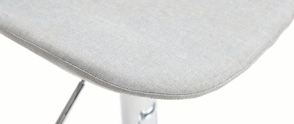 Tabouret de bar design tissu gris clair lot de 2 ZACK