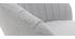 Tabouret de bar design tissu gris IZAAC
