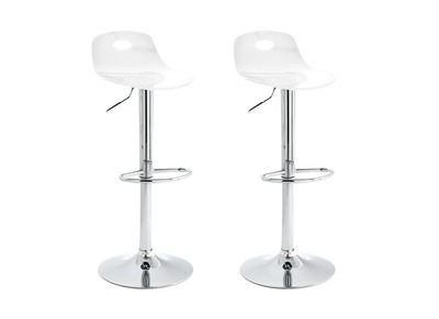 Tabouret de bar design transparent lot de 2 ATRIA