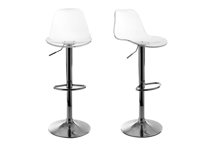 Tabouret de bar design transparent lot de 2  GALILEO