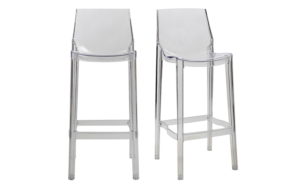 Tabouret de bar plexiglas fly - Tabourets de bar transparents ...