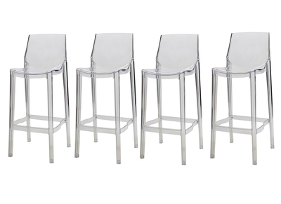 Tabouret de bar design transparent lot de 4 YLAK