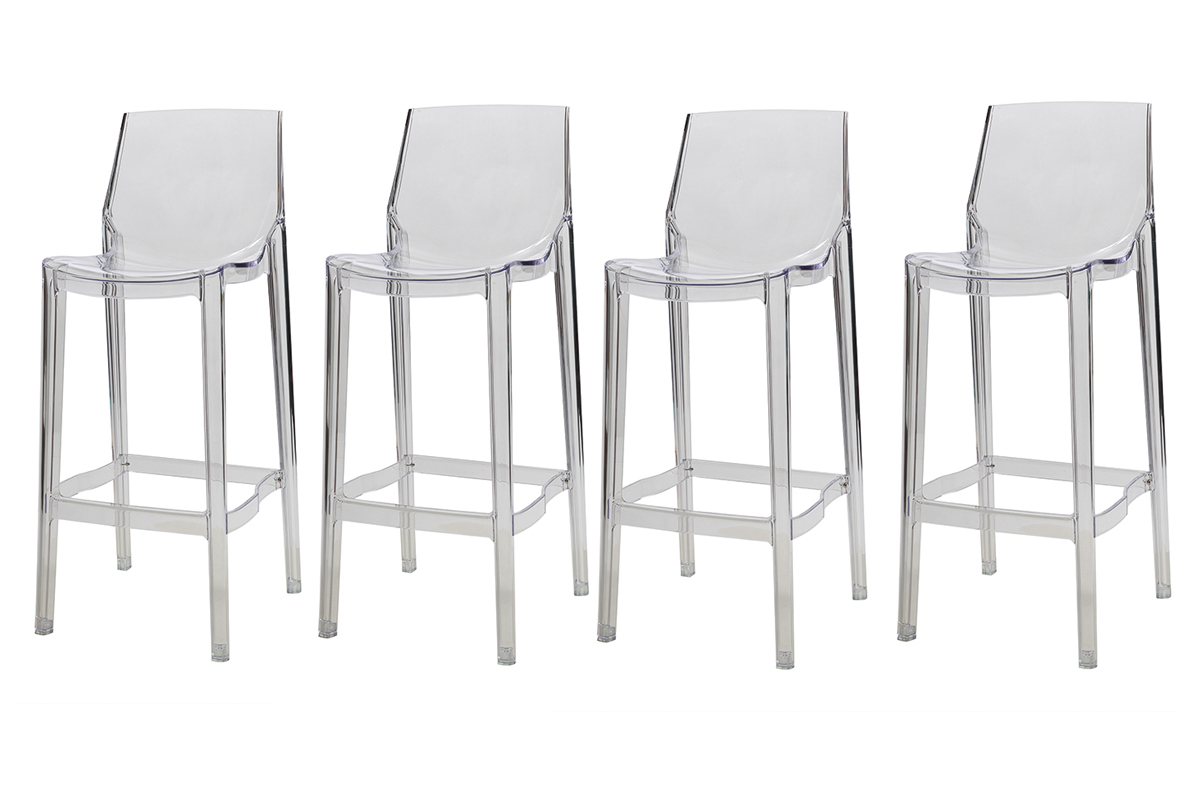 Tabouret de bar transparent fly - Tabourets de bar transparents ...