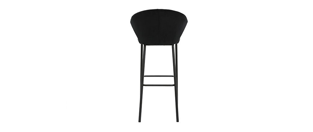 Tabouret de bar design velours noir H78 cm DALLY - Miliboo & Stéphane Plaza