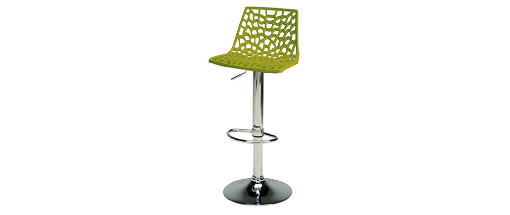 tabouret de bar design vert atrax miliboo. Black Bedroom Furniture Sets. Home Design Ideas