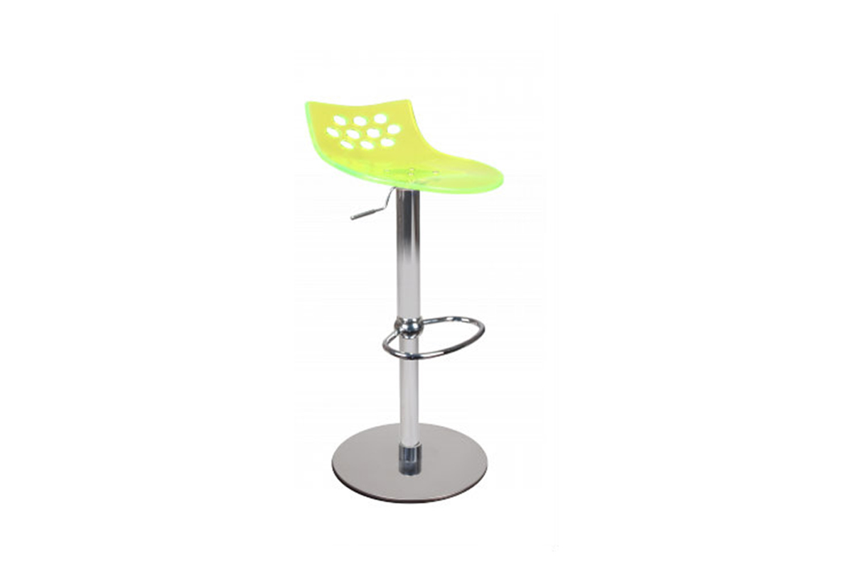 tabouret de bar moderne jaune transparent magellan miliboo. Black Bedroom Furniture Sets. Home Design Ideas