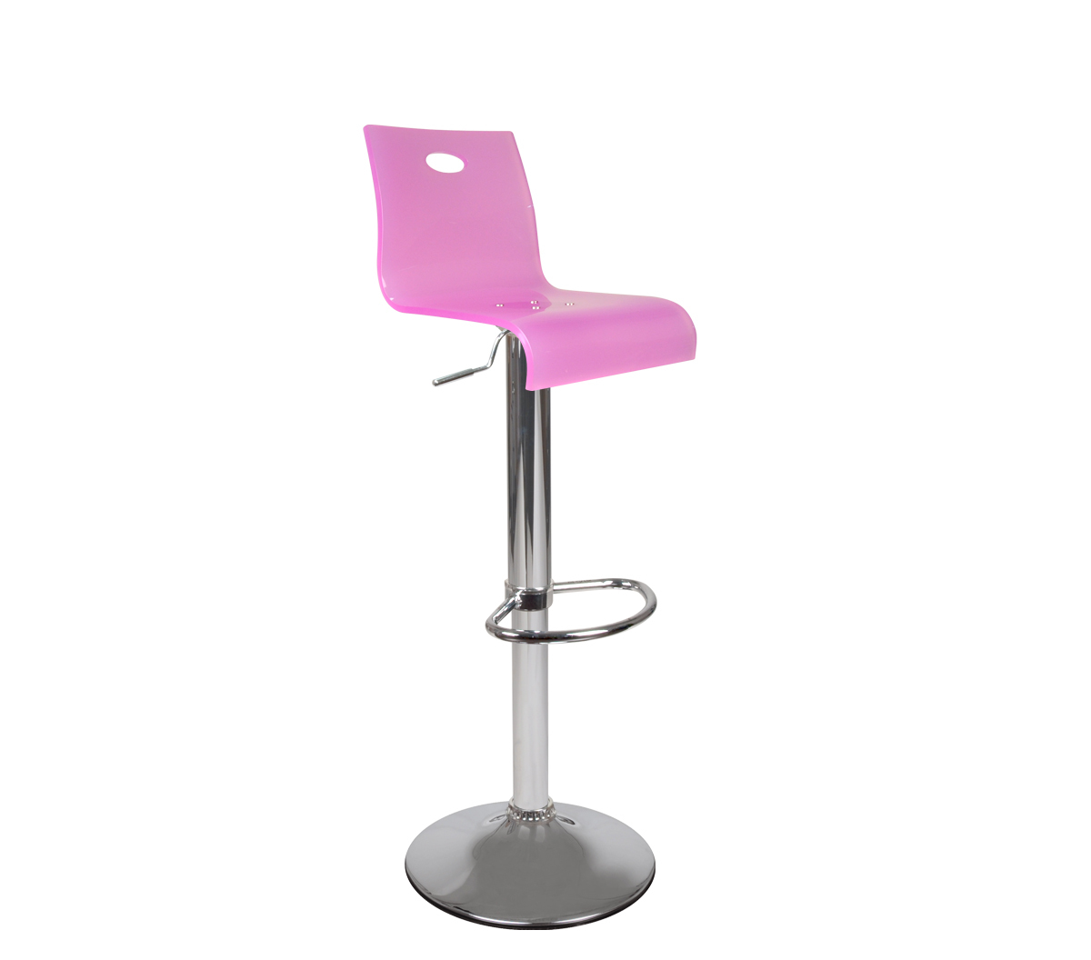 tabouret de bar plexiglas rose saturne miliboo. Black Bedroom Furniture Sets. Home Design Ideas